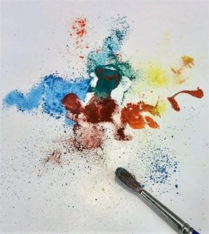 Powdered pigment